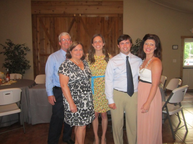 The Lefebvre Family at Cara's Wedding (minus Mandy & Mike - who we MISSED!)